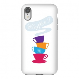iPhone Xr  Bright Coffee Cups by Martina