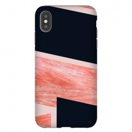 iPhone Xs Max  iNDULGE and vICE by Uma Prabhakar Gokhale (graphic design, texture, blush, pink, black, contrast, abstract, line art, geometric, overlap)