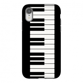 iPhone Xr  Black and white piano keys music instrument by  (piano,black and white,music,instrument,keys,musician,for her,for him,pianist,player,piano player,for pianist,for musician,elegant,simple,minimalist,unisex)
