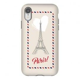 iPhone Xr  Vintage envelope Eiffel Tower in Paris by  (paris,france,eiffel tower,vintage,old,stylish,graphic,illustration,envelope,greeting,love,heart,elegant,modern,typography,landscape,monument)