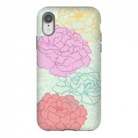 iPhone Xr  Pretty pastel peonies by Martina