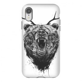 iPhone Xr  Angry bear with antlers by Balazs Solti