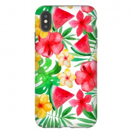 Aloha Tropical Hibiscus and Melon Pattern by Utart