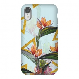 Floral Gold Triangle by Creativeaxle