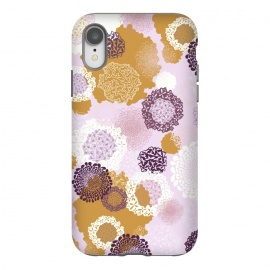 iPhone Xr  Doily Flowers on Pink by Paula Ohreen