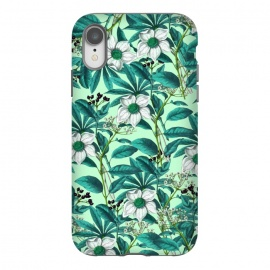 iPhone Xr  White Green Flora by