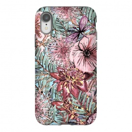 iPhone Xr  Tropical Vintage Flower Pattern by Utart