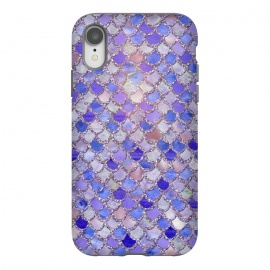 iPhone Xr  Purple hand drawn mermaid scales by Utart