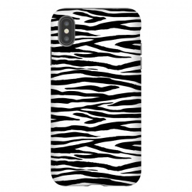 iPhone Xs Max  Zebra Stripes Black And White by Andrea Haase