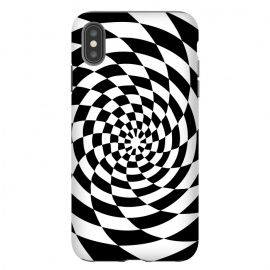 iPhone Xs Max  Checker Spiral Black And White by Andrea Haase
