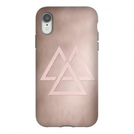 iPhone Xr  Rosegold Geometrical Modern Shapes on Rose Blush by Utart