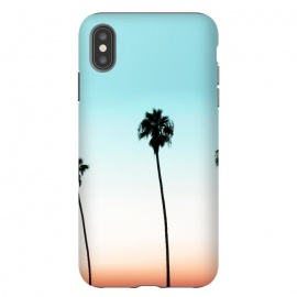 iPhone Xs Max  Sunset Boulevard by Uma Prabhakar Gokhale (paint filter, paint effect, tropical, beach, coconut trees, palm, palm trees, palms, palm leaves, palm leaf, sunset, california)