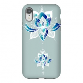 iPhone Xr  Saige Lotus Flower  by Rose Halsey (flower,lotus,floral,peaceful,saige,boho,yoga)