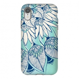 iPhone Xr  Truth  by Rose Halsey (flower,floral,teal,boho,hippie,lotus,lilly,nature,leaves,pretty)