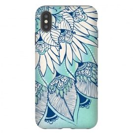 iPhone Xs Max  Truth  by Rose Halsey (flower,floral,teal,boho,hippie,lotus,lilly,nature,leaves,pretty)