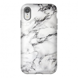 iPhone Xr  White Marble Stone Print by Dushan Medich