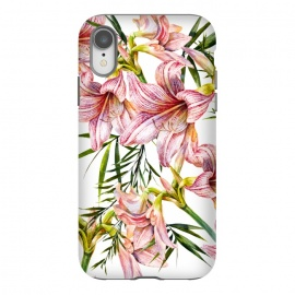 iPhone Xr  Floral tropical pink by Mmartabc