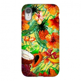 iPhone Xr  Aloha Tropical Fruits and Flowers by Utart