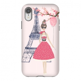 iPhone Xr  Trendy Girl in Spring in Paris by DaDo ART