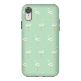 iPhone Xr  Flamingo Mint Pattern 005 by Jelena Obradovic