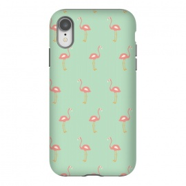 iPhone Xr  Flamingo Mint Pattern 009 by Jelena Obradovic