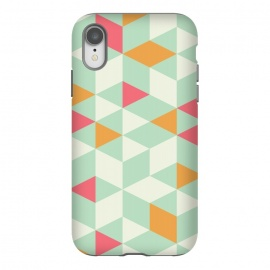 iPhone Xr  Geometric Mint Pattern 014 by Jelena Obradovic