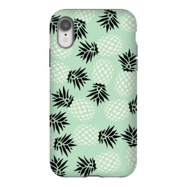 iPhone Xr  Pineapple Mint Pattern 023 by Jelena Obradovic