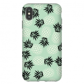 iPhone Xs Max  Pineapple Mint Pattern 023 by Jelena Obradovic