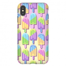 iPhone Xs Max  Ice Lollipops Popsicles Summer Punchy Pastels Colors by BluedarkArt