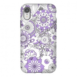 iPhone Xr  70s Flowers - Lilac and White by Paula Ohreen