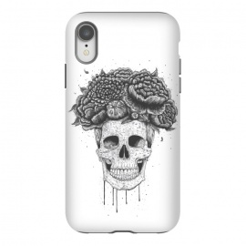 iPhone Xr  Skull with flowers by kodamorkovkart