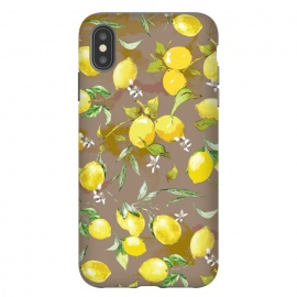 Watercolor Lemon Pattern II by Bledi