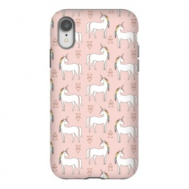 iPhone Xr  Geo Unicorn by Dunia Nalu (geo, geometric,unicorn, sweet, cute,girly,rainbow,animal,minimalist,pattern)