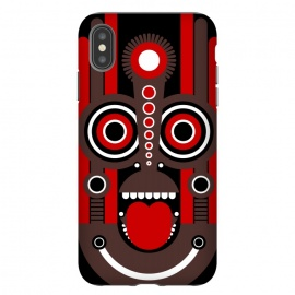 iPhone Xs Max  tiki tribal mask by TMSarts