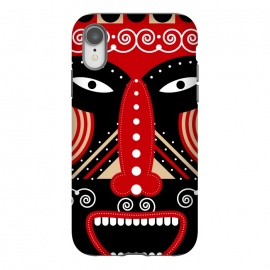iPhone Xr  red ritual tribal mask by TMSarts