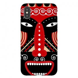 iPhone Xs Max  red ritual tribal mask by TMSarts