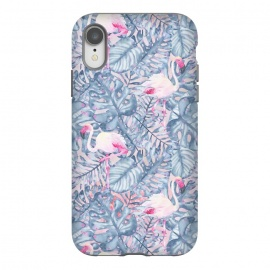 iPhone Xr  Pink and Blue Flamingo Summer  by Utart