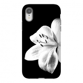 iPhone Xr  White Lily Black Background by Alemi