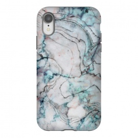 iPhone Xr  Teal and gray marble by Utart