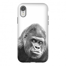 iPhone Xr  Black and White Gorilla by Alemi