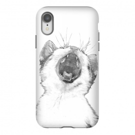 iPhone Xr  Black and White Sleepy Kitten  by