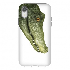 iPhone Xr  See You Later, Alligator by ECMazur  (digital art,realistic drawing,alligator,crocodile,animal,nature,wildlife,reptile)