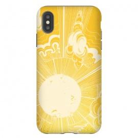 iPhone Xs Max  Solar Flare by  (sun,solar,star,flare,yellow,bright,happy,sunshine,bold,digital art)