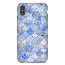 iPhone Xs Max  Blue and Silver Mermaid Scales by Utart