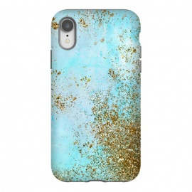 iPhone Xr  Gold and Teal Mermaid Glitter Foam by Utart