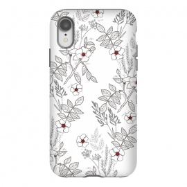 iPhone Xr  Roses by Dunia Nalu (floral, b&w,Black&white,black, white, transparent,roses,flower,red)