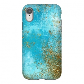 iPhone Xr  Teal and Gold Mermaid Ocean Seafoam by Utart
