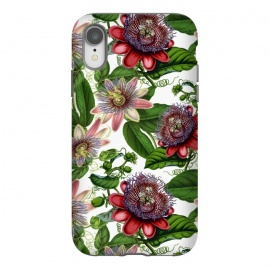 iPhone Xr  Colorful Vintage Passiflora Pattern by Utart
