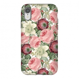 iPhone Xr  Pastel Vintage Roses Pattern by Utart