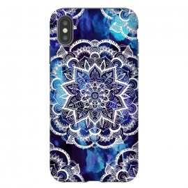 iPhone Xs Max  Queen Starring of Mandalas Navy by ''CVogiatzi.